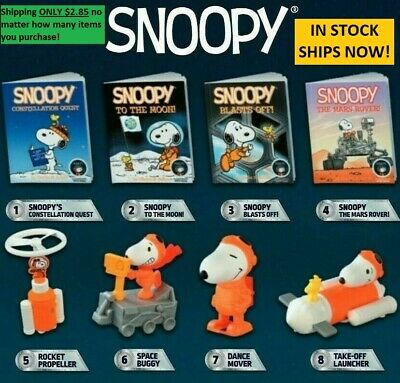 2019 McDonalds Happy Meal Toys SNOOPY NASA TOYS - BOOKS - IN STOCK SHIPPING NOW