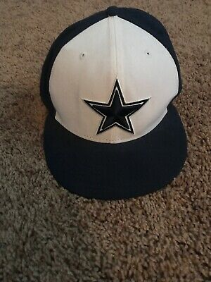 59Fifty Dallas Cowboys Hat Fitted Cap New Era Size 7 12 NFL Blue Football