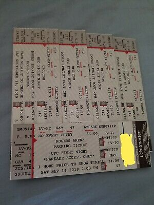 Vancouver BC UFC Tickets for Sep- 14th