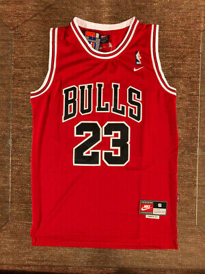 23 Michael Jordan Chicago Bulls Throwback RED Jersey Mens or Youth
