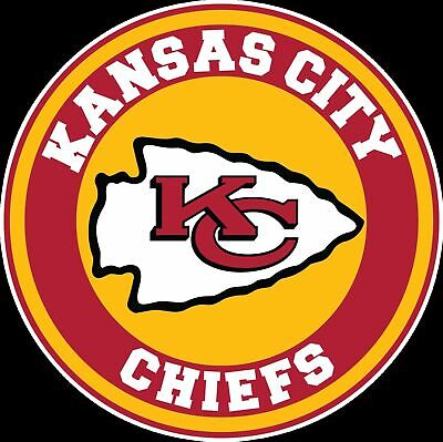Kansas City Chiefs Circle Logo Vinyl Decal  Sticker CHOOSE SIZE 3-12