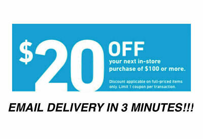 THREE 3x Lowes 20 OFF 100Coupons-INSTORE ONLY -Fast-Delivery-