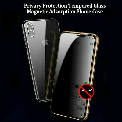 iPhone Anti-peep Magnetic Case Double Side for iPhone 7 8 X XRXS Max 11 Pro Max