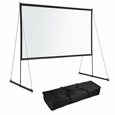 Portable Foldable Projector Screen w Stand 169 HD Home Theater Outdoor Movies