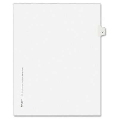 Avery  Avery-Style Legal Side Tab Divider Title 6 Letter White 25Pack