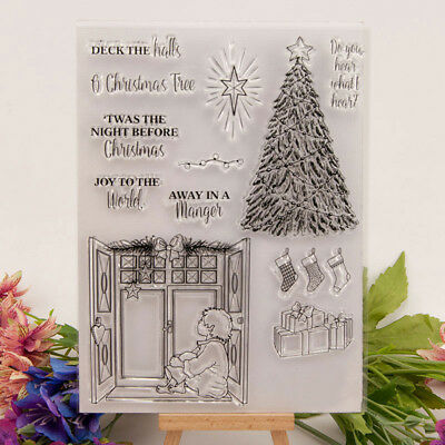 Silicone Clear Stamp Transparent Rubber Stamps DIY Scrapbook Christmas tree D-CH