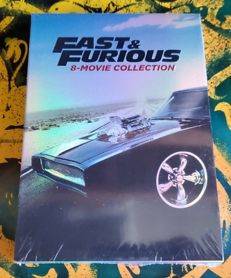 Fast and Furious 8-Movie Collection DVD 2017 9-Disc Set NEW - Sealed
