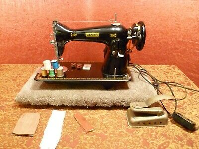 Zenith Sewing Machine Industrial Strength Sews 14 Leather wAccs