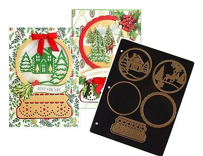 Anna Griffin® SNOW GLOBE Card Making Dies with Magnetic Storage Sheet  SOLD OUT