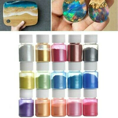 30 Bottle Pearlescent powder Epoxy Resin Dye Pigment Natural Mica Mineral Powder