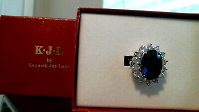 Brand New Kenneth Jay Lane Princess Diana Kate Middleton Sapphire ring QVC