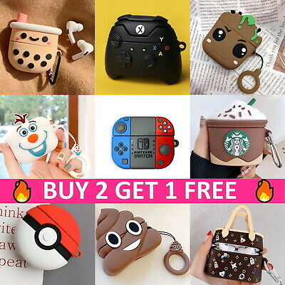 For Apple AirPods Pro Cute Cartoon Design Silicone Case Protective Cover Airpod
