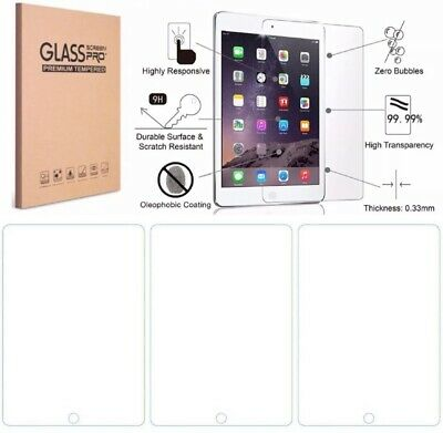 3-Pack Tempered Glass Screen Protector Cover For iPad 10-2 inch 2019 7th Gen HD