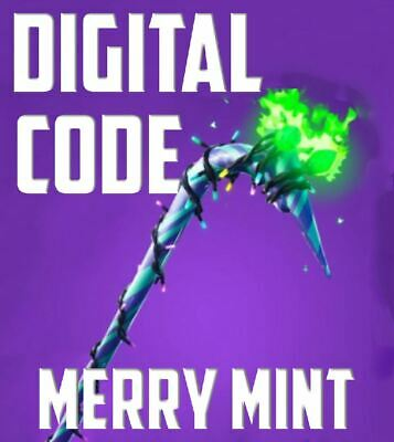 Fortnite Merry Mint Minty Pickaxe Code ALL PLATFORMS In Hand Quick Delivery