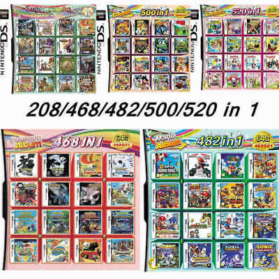 520500482468208 in 1 Game Cartridge Multicart For NDS NDSL NDSi 3DS 2DS XL