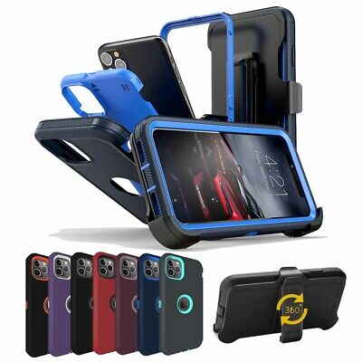 For Apple iPhone 11 Pro Max Case Hybrid Shockproof Armor Cover With Belt Clip