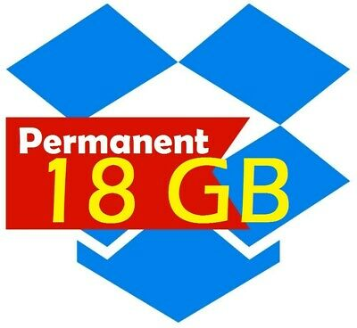 Dropbox Service - Upgrade up to 18GB for lifetime LIMITED ITEM