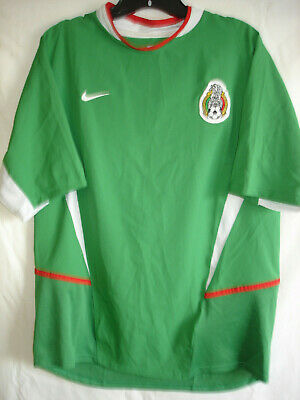 MENS RARE MEDIUM NIKE 2003 MEXICO NATIONAL GREEN WORLD CUP SOCCER JERSEY-NWOT