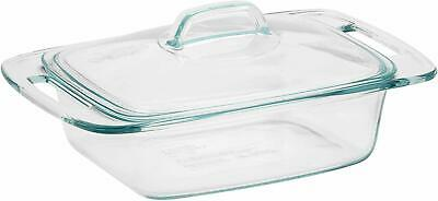 Pyrex Easy Grab 2-Quart Casserole Glass Bakeware Dish with Glass Lid
