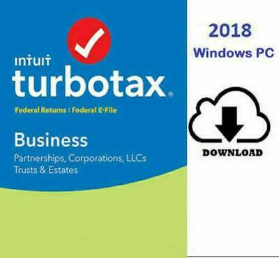 TurboTax Home and Business 2018 Federal - State  Windows MacOS Fast Delivery