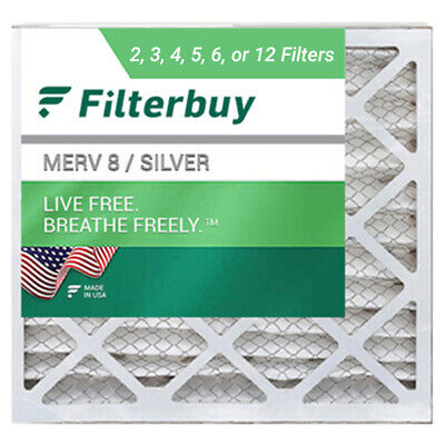 FilterBuy 20x20x1 Air Filters Pleated Replacement for HVAC AC Furnace MERV 8