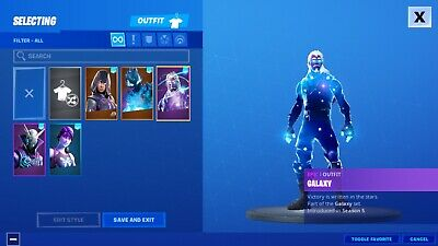 Fortnite Rare Galaxy Skin And Glow Skin With Full Access-