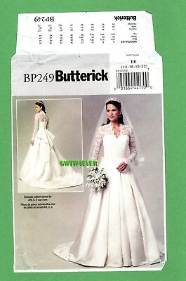 PRINCESS Kate Middleton WEDDING GOWN PATTERN REPLICA  Multi sized CUP Sizes NEW