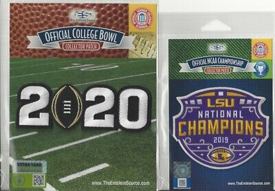 LSU 2019 College Football Champions - 2020 CFP Patch Combo Official NCAA Logo