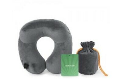 Qyuhe-Grey Automatic Inflatable Travel Neck Pillow With Skin Friendly Velvet-PVC