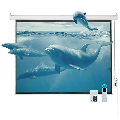 100 43 Electric Motorized Projector Projection Screen Remote Control Movie HD