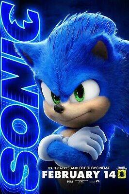 Sonic The Hedgehog movie poster h  - 11 x 17 inches - Sonic