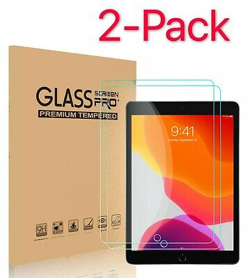 2-Pack Tempered Glass Screen Protector Cover For iPad 10-2 inch 2019 7th Gen HD
