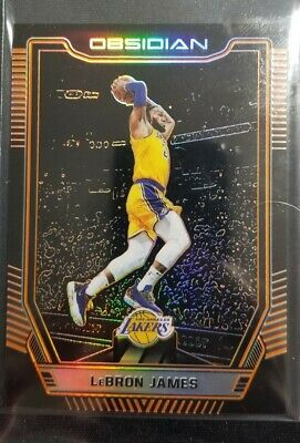 2018-19 PANINI OBSIDIAN Lebron James ORANGE 825 LAKERS Kobe Jersey Number