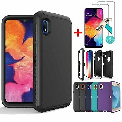 For Samsung Galaxy A10e Case Shockproof Rubber Armor Cover With Screen Protector