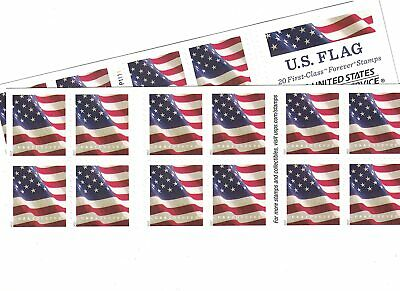 40 x 0-55 New Unused USPS US FLAG Forever Postage Stamps  22 Value