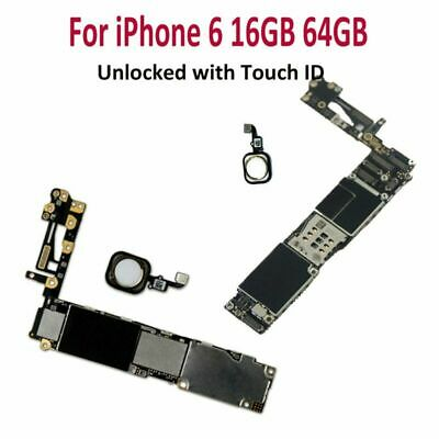 Motherboard Main BoardLogic Board for iPhone 6 16GB 64GB Unlocked with Touch ID