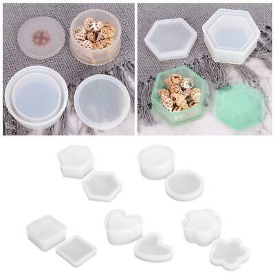 Silicone Hexagon Jewellery Storage Box Mold Resin Casting Mould DIY Craft Decor