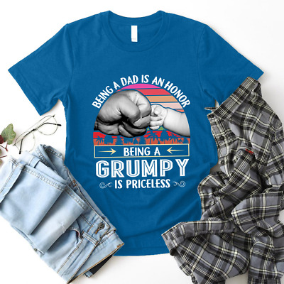 Being A Grumpy is priceless Fathers Day Gift Shirt For Dad Grandfather