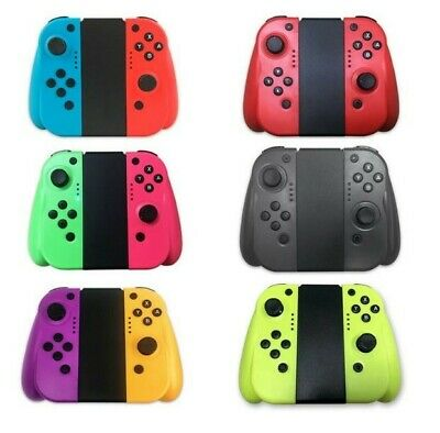 For Nintendo Switch Joy-Con LR Bluetooth Wireless Controller Set With Grip