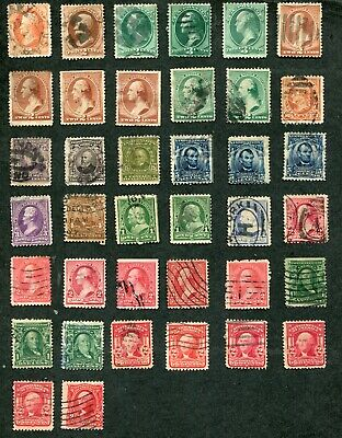 STAMP LOT OF THE U-S- EARLIER ISSUES