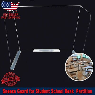 SNEEZE GUARD for SCHOOL STUDENT Desk Cafeteria Partition SameDay Shipping