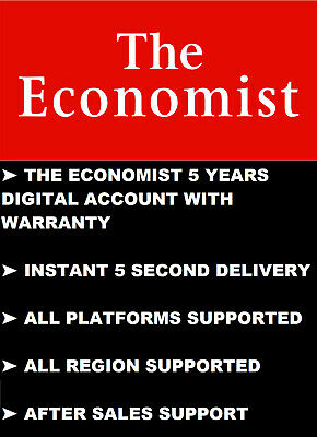 The Economist - 5 Years Digital Account With Warranty - All Platforms Supported
