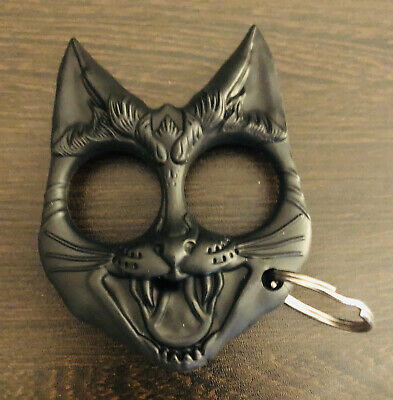 Self Defense Keyring Black Cat Knuckles Tool