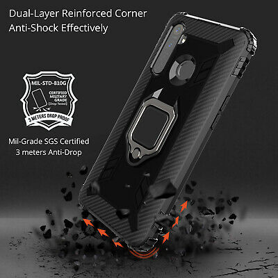 For OPPO Realme 6 5 Pro Magnetic Ring Holder Case Shockproof Soft Rubber Cover