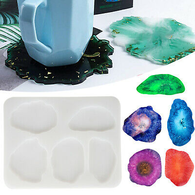 Silicone Coaster Mold Resin Epoxy Casting Mould DIY Art Craft Jewelry Making US