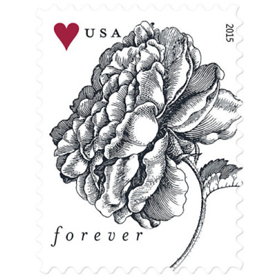 100 Stamps 5 Sheets of 20 USPS Forever Vintage Rose Postage Stamp - MNH 2015