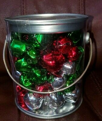 Red Green - Silver jingle bells variety of sizes Total 66 pieces