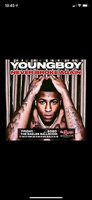 2 NBA younboy tickets and one parking ticket- Milwaukee WI September 26th