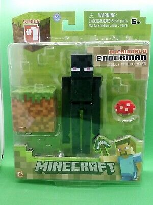 MINECRAFT Overworld - ENDERMAN 3 Action Figure - Series 1 NEW- SHIPPED IN A BOX