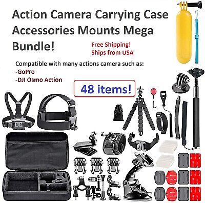 Best Accessories Kit Bundle Fit For Gopro Hero 9 8 7 Session Mount Combo 48PCS